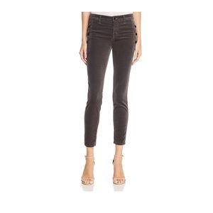 J Brand Zion Mid-Rise Skinny Velour